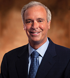 D. Scott Davis, Chairman and CEO of UPS. UPS 2012 Net Income 4.389Billion. Mr. Davis's total compensation was $12 Million. Average UPS driver pay $58,653, or just over 200 times less than Mr. Davis. (Sources: http://bit.ly/156KXUk and http://jobs.aol.com/articles/2011/06/02/ups-vs-fedex-which-pays-best/)