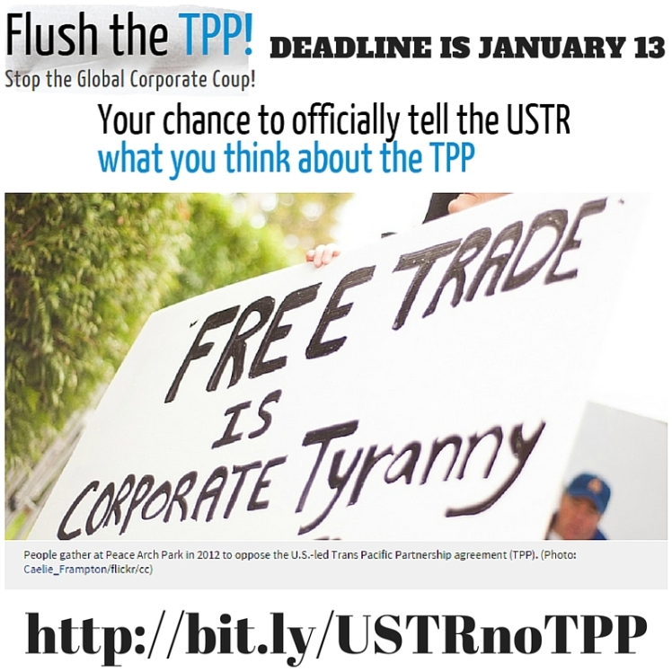 Tell USTR No TPP