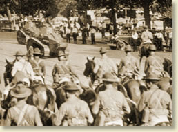 Tanks and cavalry prepare to evacuate the Bonus Army July 28, 1932