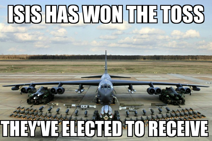 bombs for ISIS