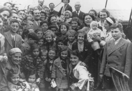 """Passengers aboard the """"St. Louis."""" These refugees from Nazi Germany were forced to return to Europe after both Cuba and the US denied them refuge. May or June 1939. — US Holocaust Memorial Museum http://www.ushmm.org/wlc/en/media_ph.php?ModuleId=10005139&MediaId=1029"""