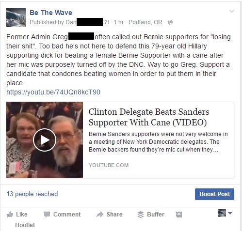 BeTheWave slander redacted