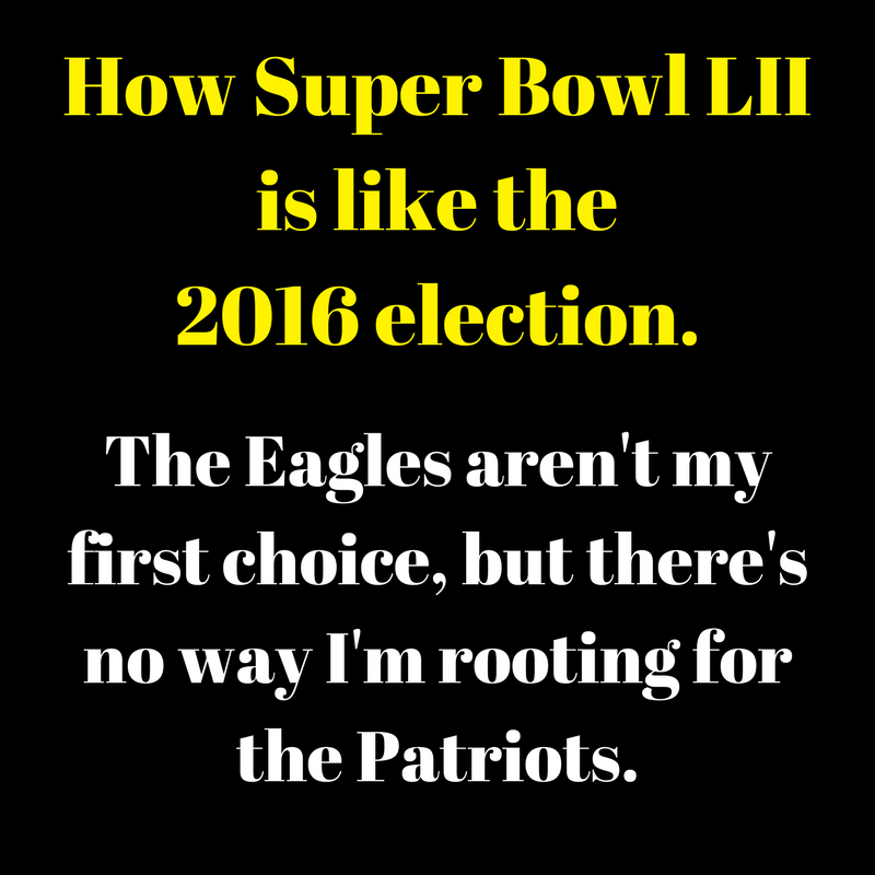 How Super Bowl LII is like the 2016 election. (1)