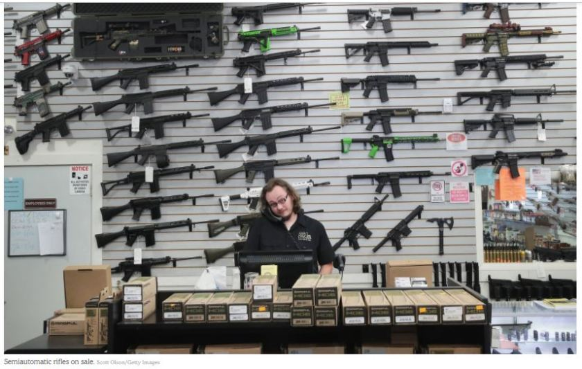 semiautomatic weapons store