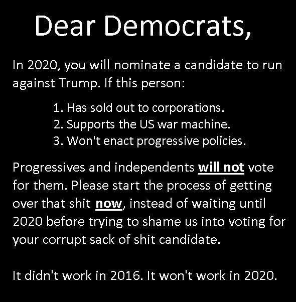 Dear Democrats